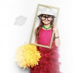 Little Girl posing for photo booth